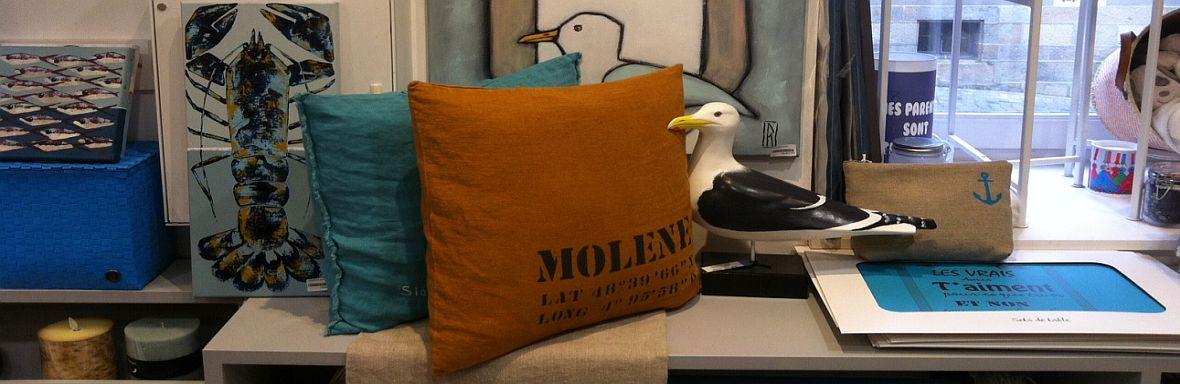 textile chemin de table les mer d 39 iroise chemin de table c t ouest chemin de table. Black Bedroom Furniture Sets. Home Design Ideas