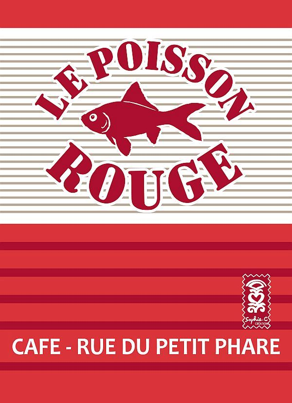 Torchon le poisson rouge 144 for Magasin le torchon a carreaux